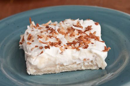 Easter Dinner Menu - Coconut Cream Pie Bars via Boys Ahoy | https://www.roseclearfield.com