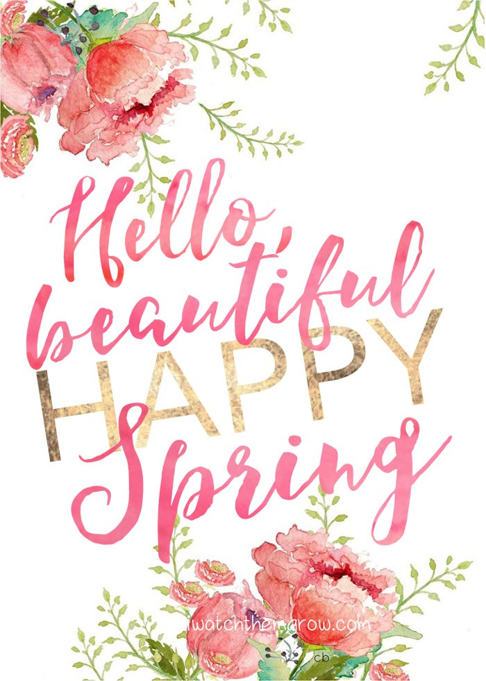 Free Spring Printables - I Watch Them Grow | https://www.roseclearfield.com