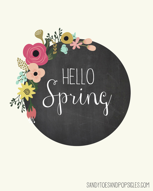 Free Spring Printables - Sandy Toes and Popsicles | https://www.roseclearfield.com