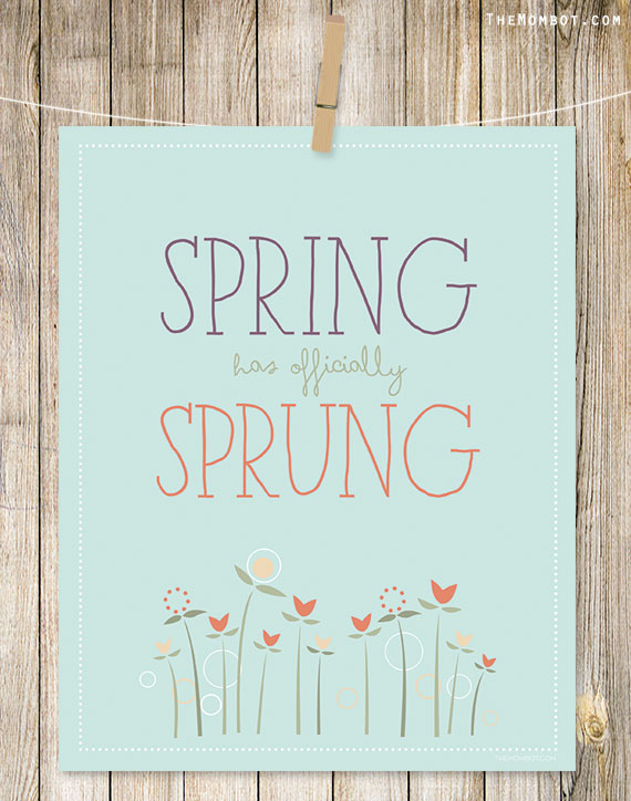 Free Spring Printables - The Mom Bot | https://www.roseclearfield.com