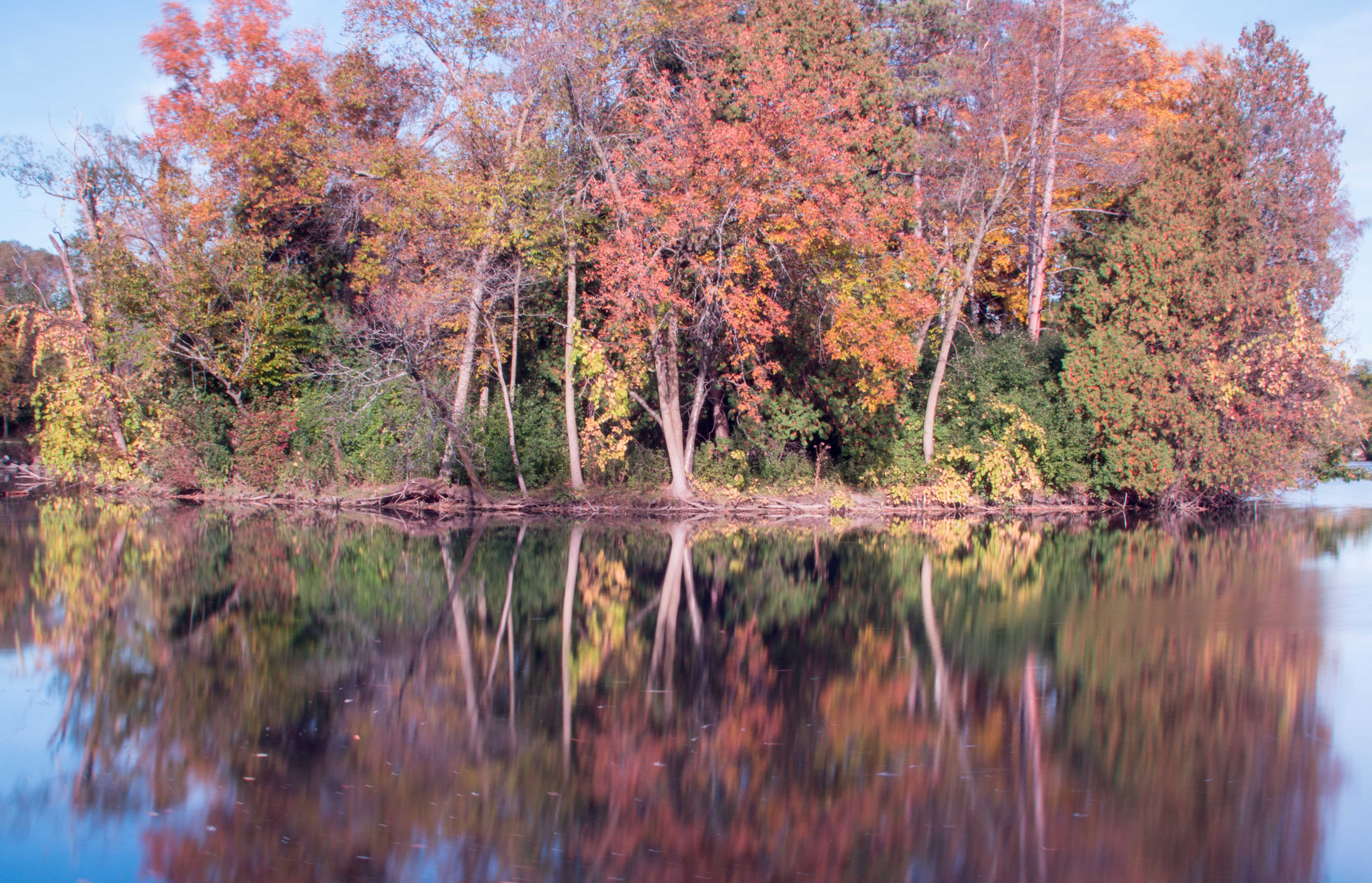 Greenfield Park October 2014 Fall Leaves Reflection Long Exposure | https://www.roseclearfield.com