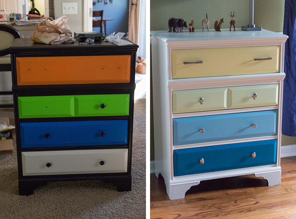 Nursery Dresser Before and After | https://www.roseclearfield.com