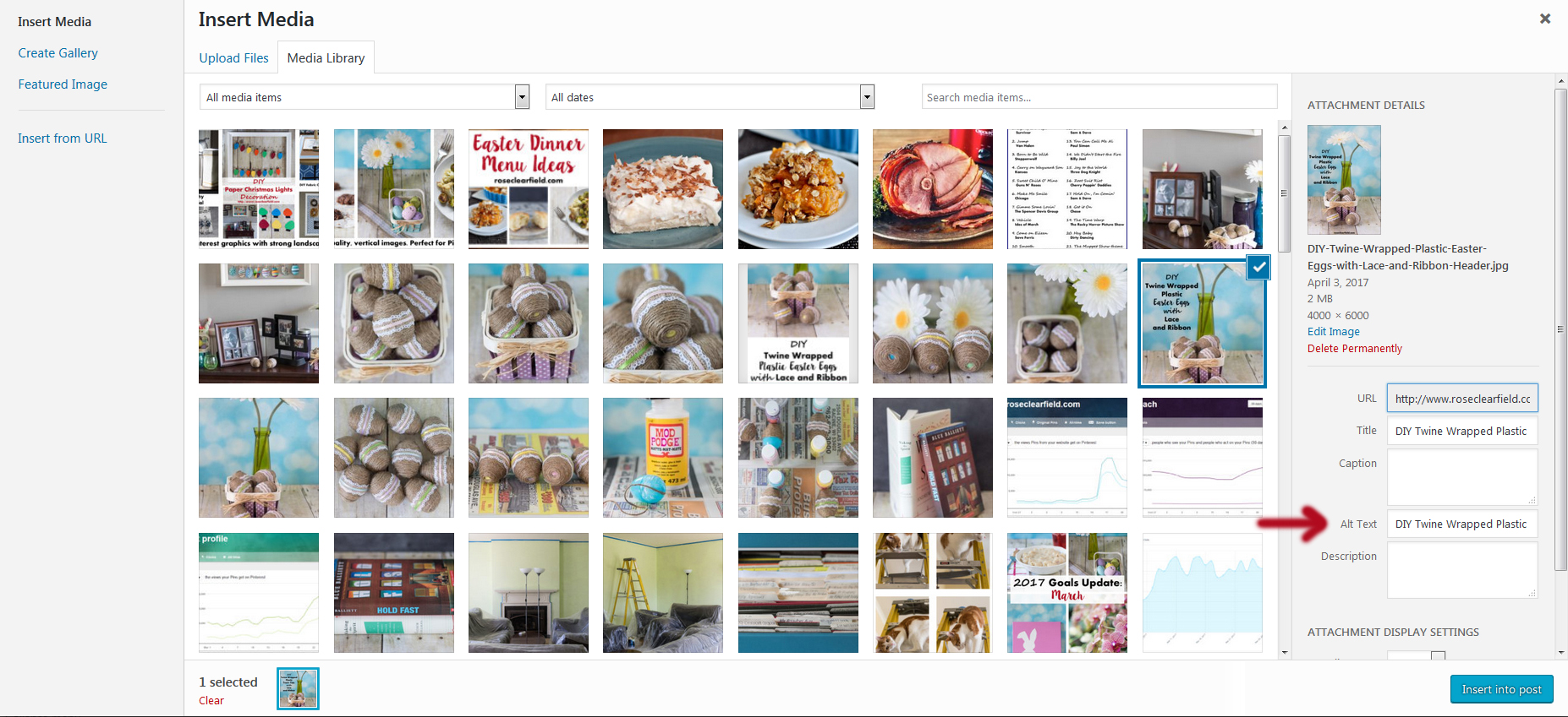 Pinterest Sharing Tips - Include an Image Alt Text | https://www.roseclearfield.com
