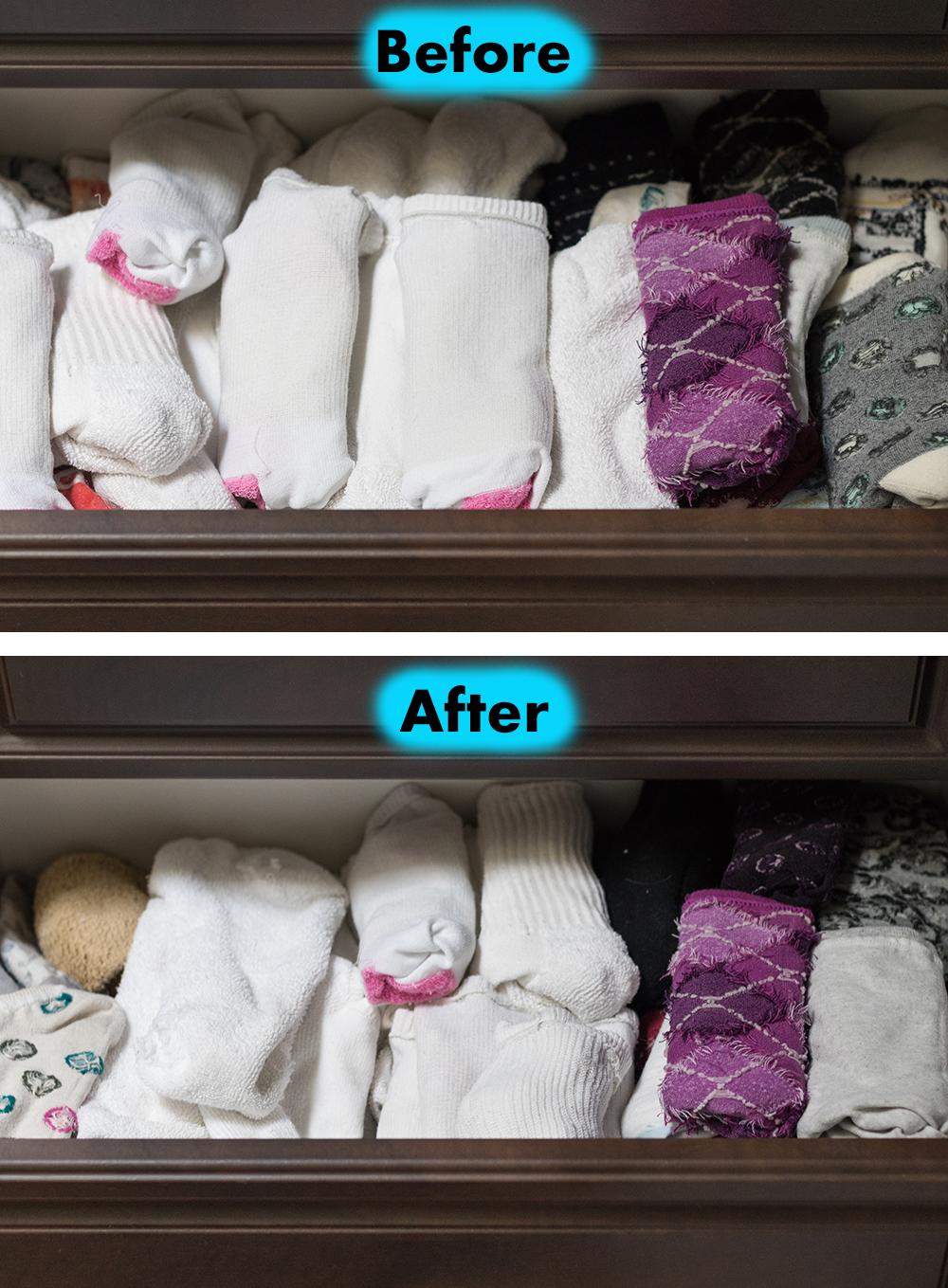 Sock Drawer Organization