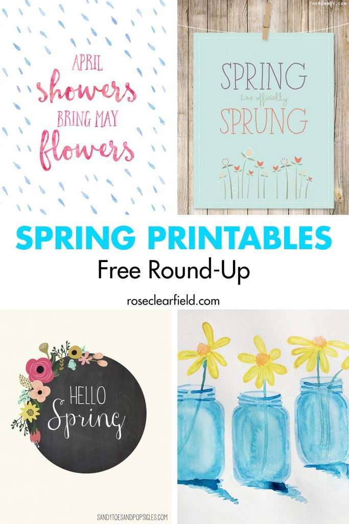 Spring Printables Free Round Up