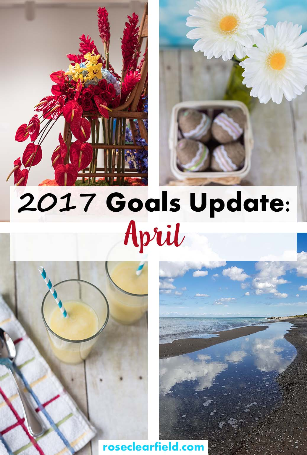 2017 Goals Update April | https://www.roseclearfield.com