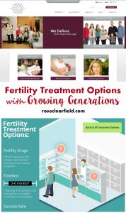 Fertility Treatment Options with Growing Generations | https://www.roseclearfield.com #GrowingGenerations #health #ad