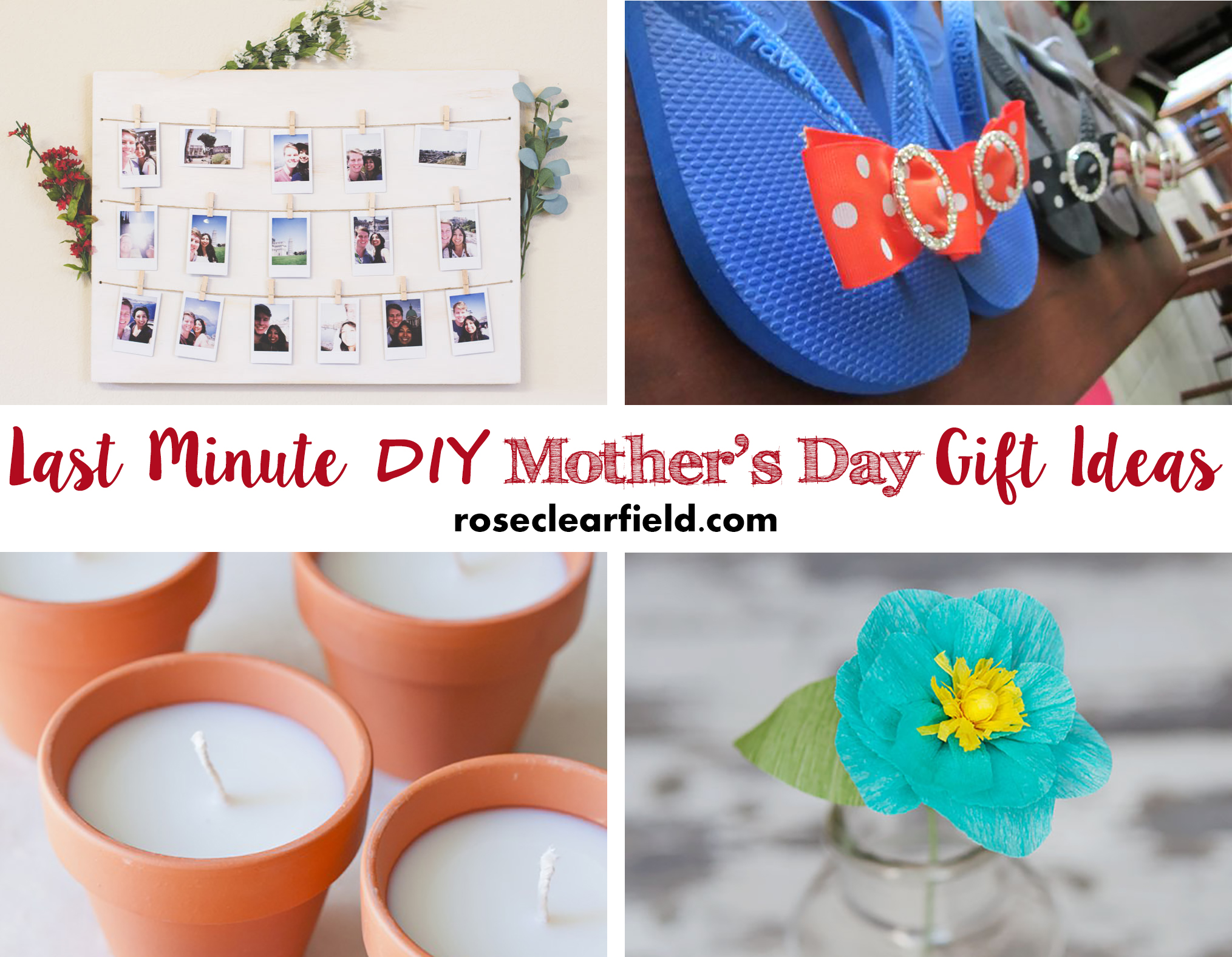 Last Minute Diy Mother 39 S Day Gift Ideas Rose Clearfield