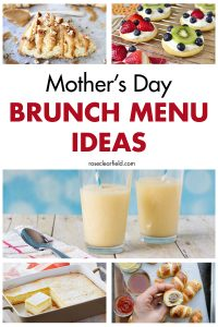 Mother's Day Brunch Menu Ideas