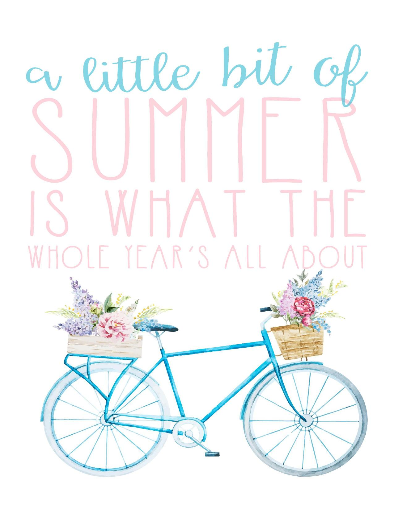 Free Summer Printables - A Little Bit of Summer via I Should be Mopping the Floor | https://www.roseclearfield.com