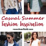 Casual Summer Fashion Inspiration | https://www.roseclearfield.com