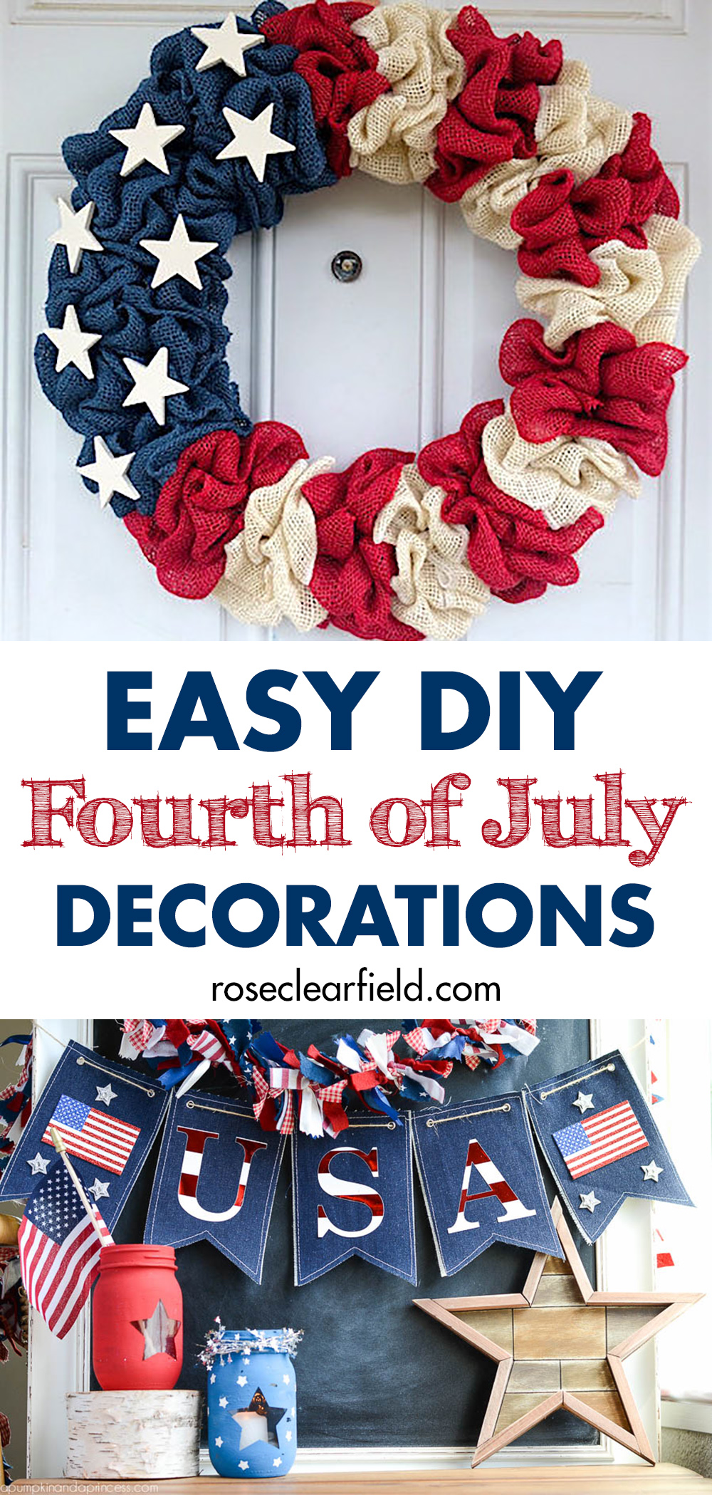 Easy Diy Fourth Of July Decorations 2 Rose Clearfield