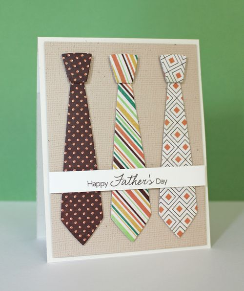 Last Minute DIY Father's Day Gift Ideas - Father's Day Necktie Card via Prairie Paper and Ink | https://www.roseclearfield.com