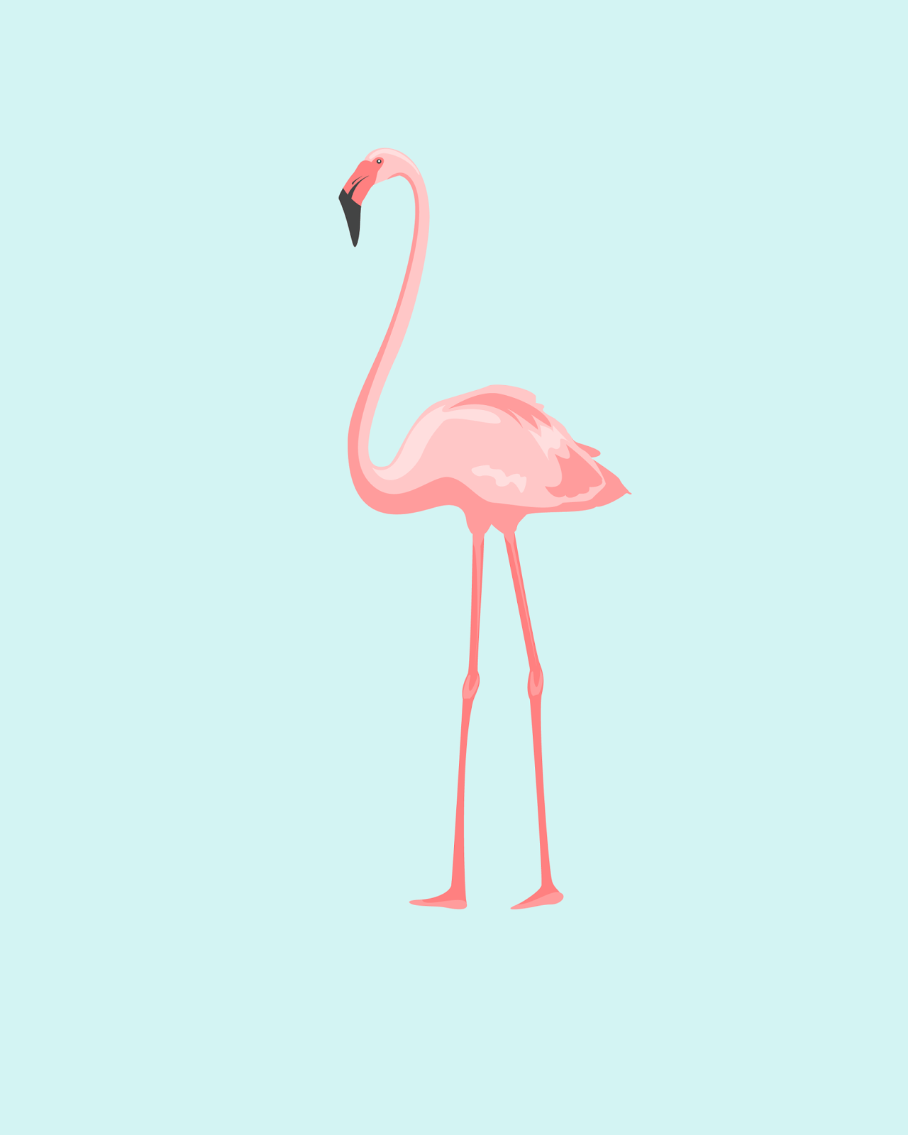 Free Summer Printables - Flamingo Printable via Oh So Lovely | https://www.roseclearfield.com