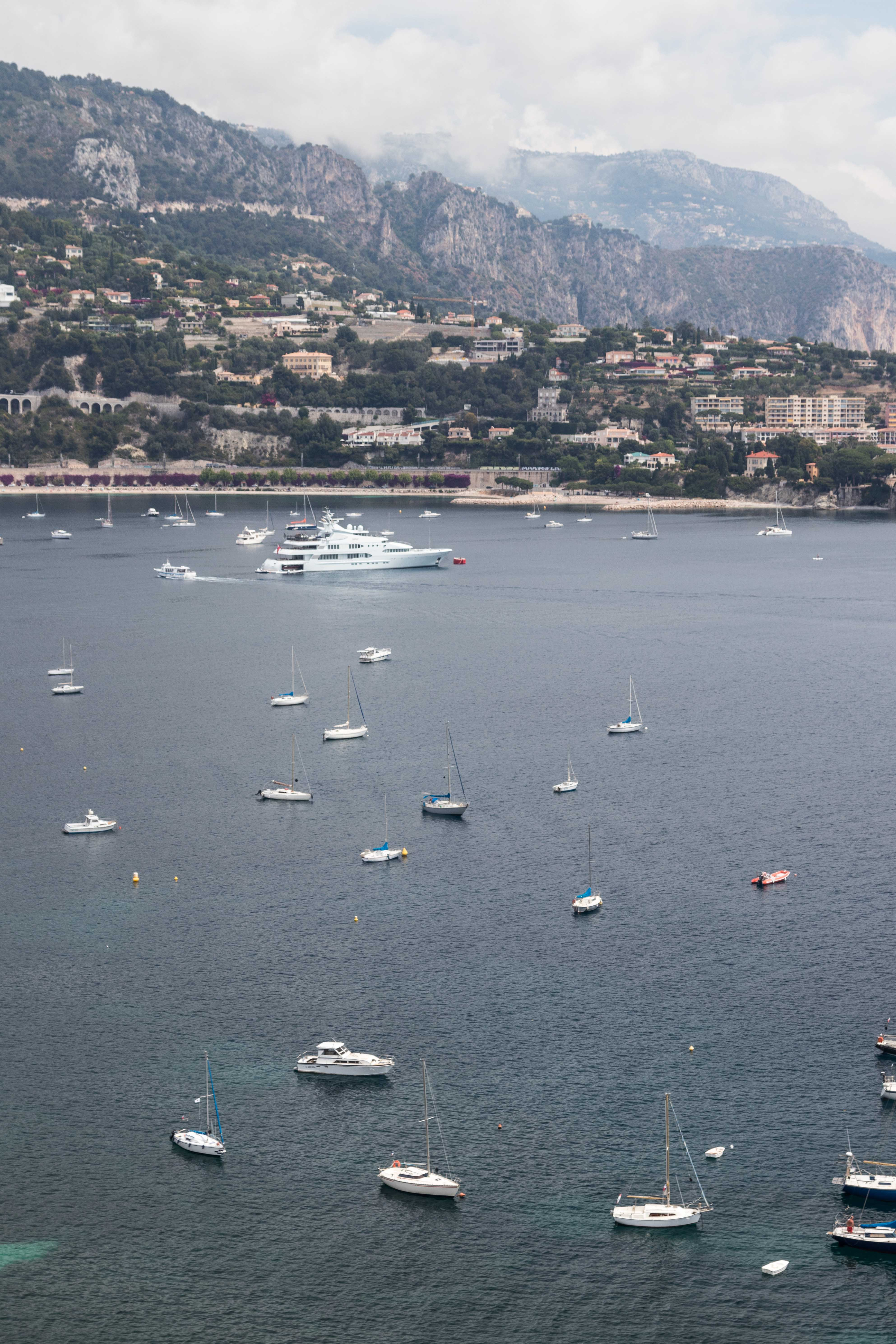 Boats on the French Riviera Coast | https://www.roseclearfield.com
