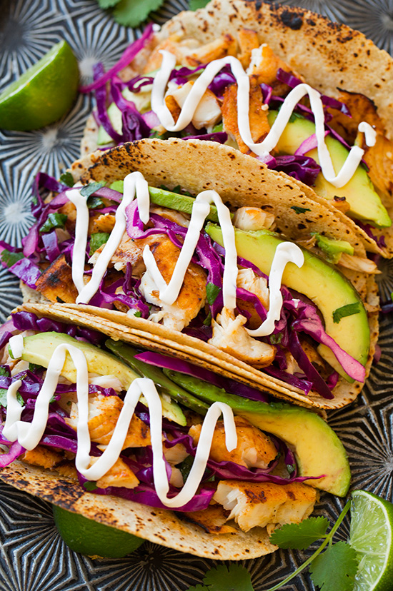 30 Days of Healthy Grilling Recipes - Grilled Fish Tacos with Lime Cabbage Slaw via Cooking Classy | https://www.roseclearfield.com
