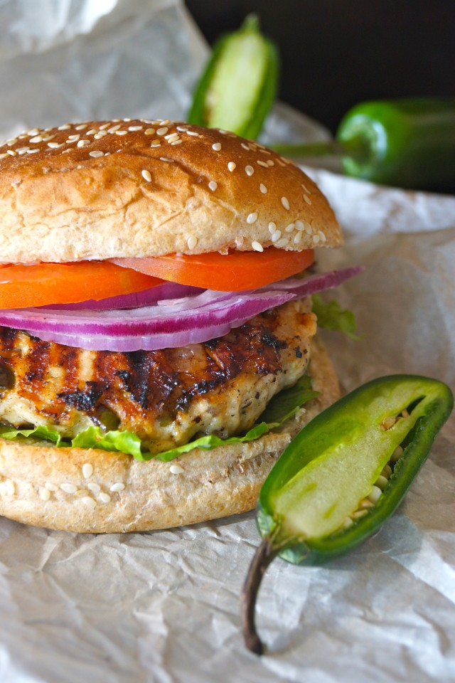 30 Days of Healthy Grilling Recipes - Grilled Jalapeno Pepper Jack Turkey Burgers via Cooking on the Weekends   https://www.roseclearfield.com