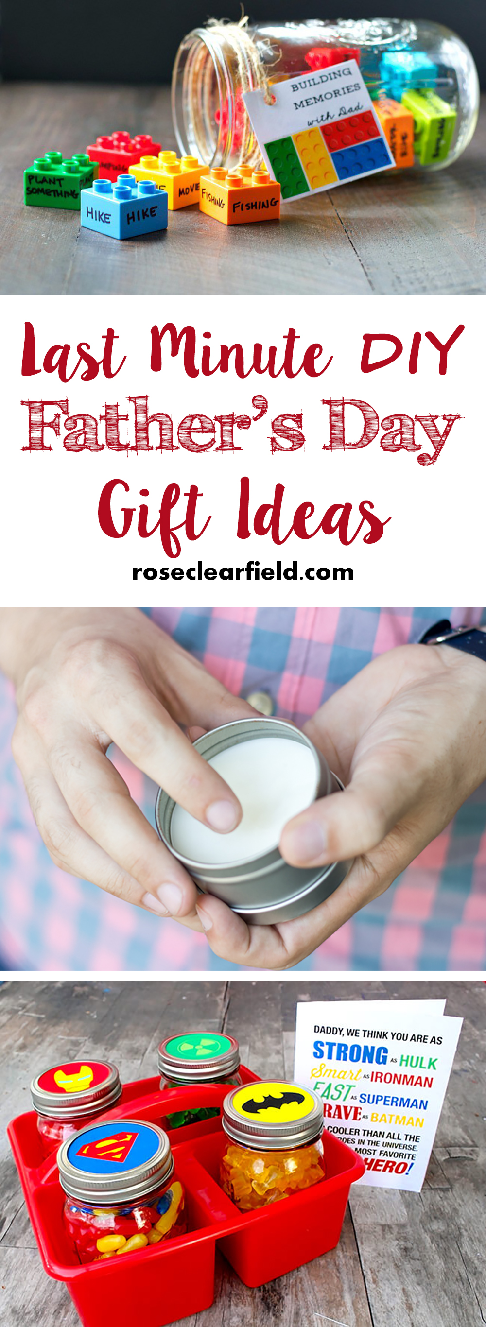 Last-Minute DIY Father's Day Gift Ideas • Rose Clearfield