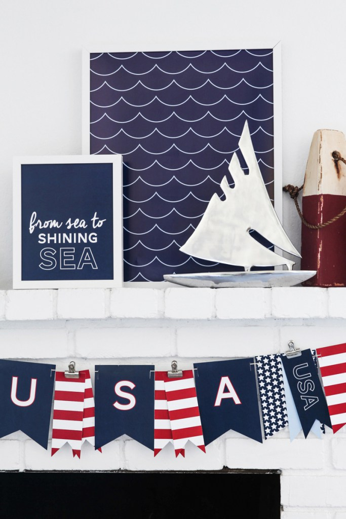 Free Summer Printables - Patriotic 4th of July Nautical Prints via Tater Tots and Jello | https://www.roseclearfield.com