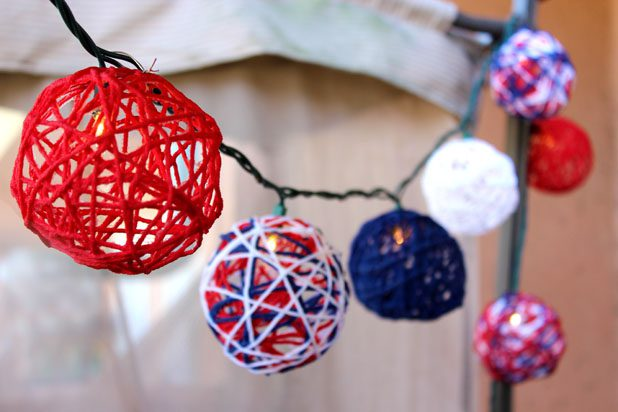 Easy DIY Fourth of July Decorations - Patriotic String Lights via Jonathan Fong at eHow | https://www.roseclearfield.com