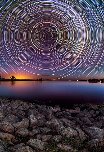 Photography Inspiration - Star Trails Above Australian Outback by Lincoln Harrison | https://www.roseclearfield.com