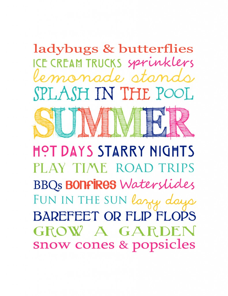 Free Summer Printables - Summer Subway Art via Manda Girl | https://www.roseclearfield.com