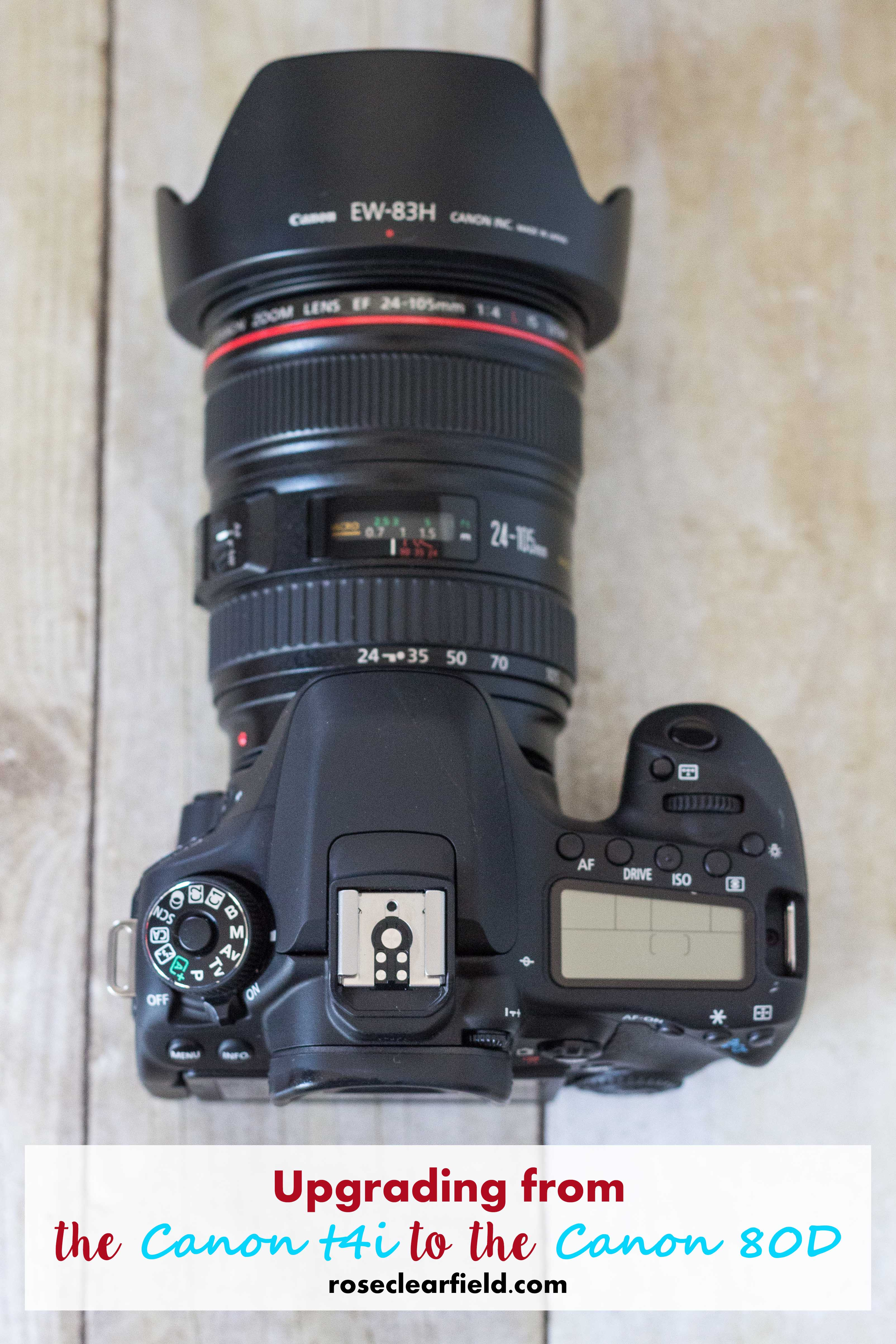 Upgrading from the Canon t4i to the Canon 80D | https://www.roseclearfield.com