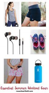 Essential Summer Workout Gear | https://www.roseclearfield.com