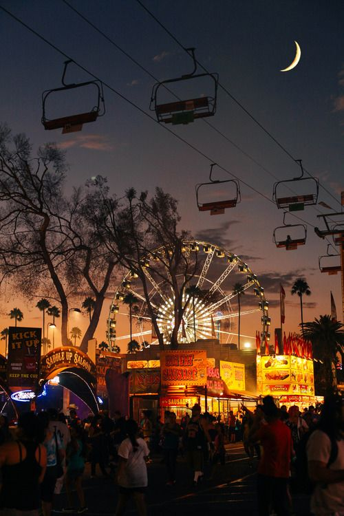 Summer Inspiration - Fair at Night | https://www.roseclearfield.com