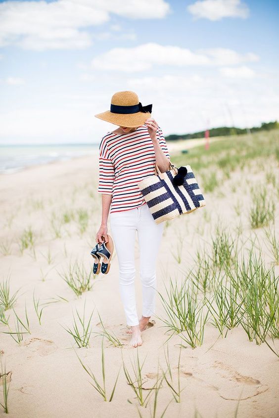 Summer Inspiration - Nautical Flare - June Style Tips via Lauren Conrad | https://www.roseclearfield.com