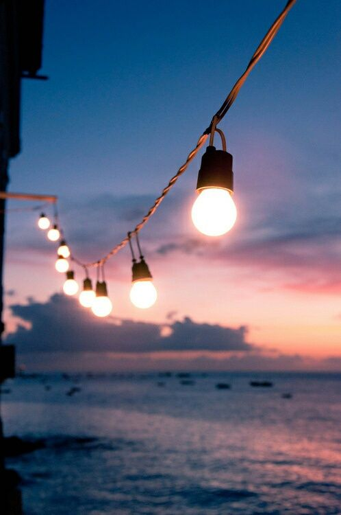 Summer Inspiration - String Lights Over the Water | https://www.roseclearfield.com
