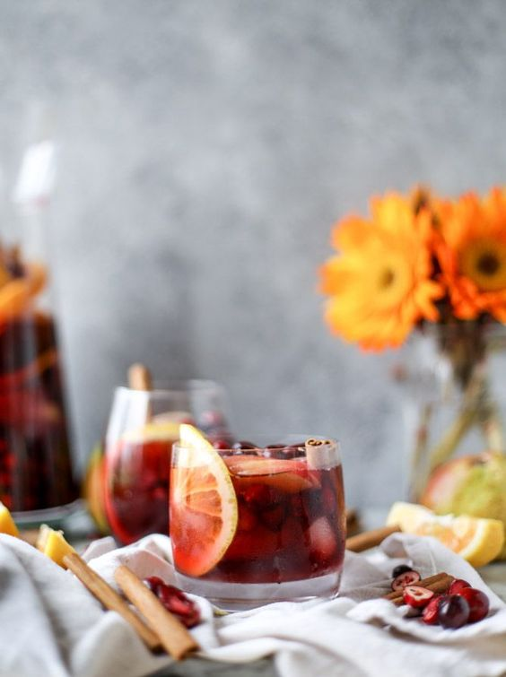 Cranberry Chai Sangria via How Sweet It Is | https://www.roseclearfield.com