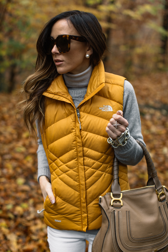 Puffer Vest Sweater Fall Outfit via Sequins and Things | https://www.roseclearfield.com