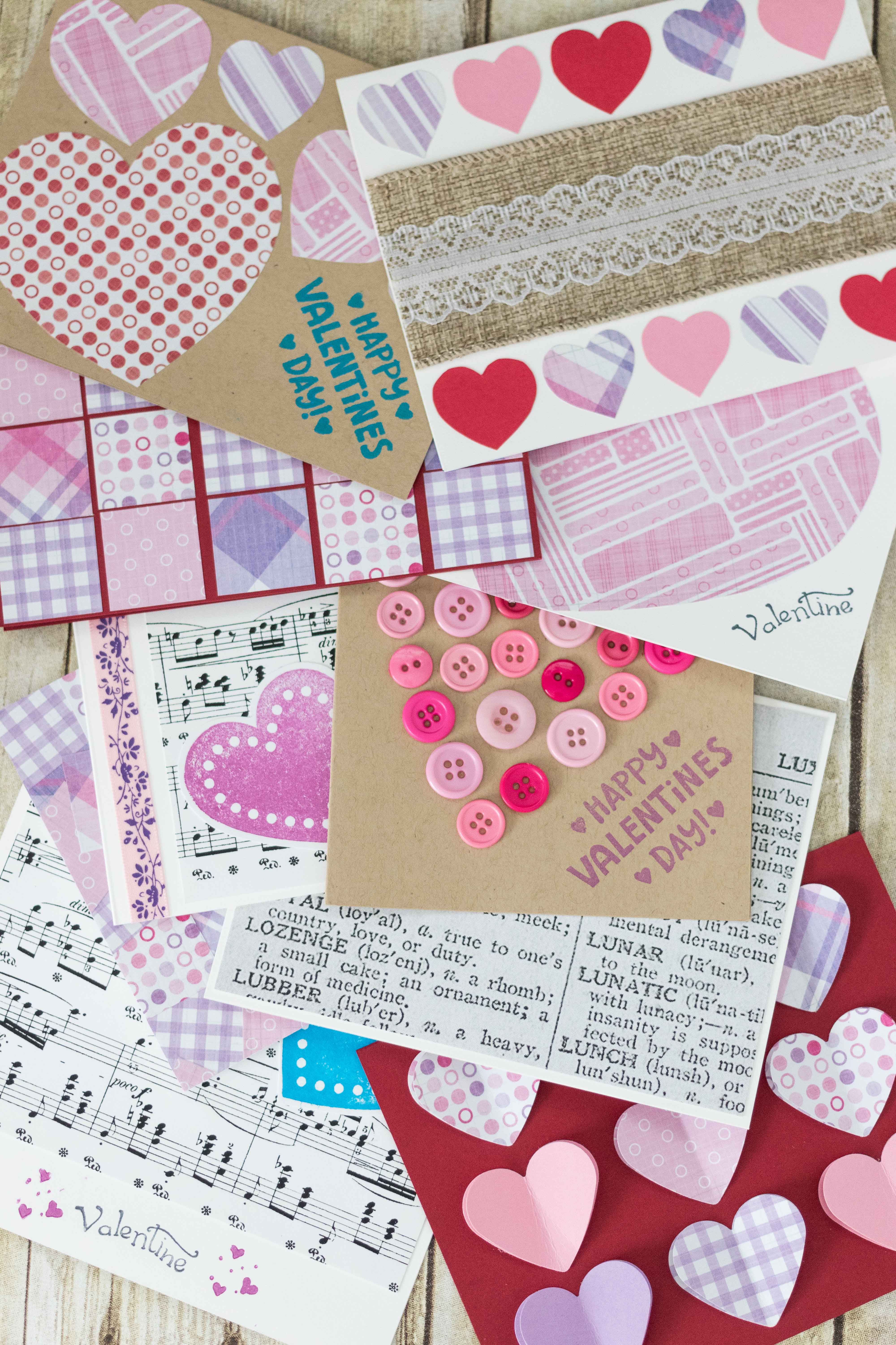 10 Simple DIY Valentine's Day Cards | https://www.roseclearfield.com