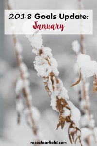 January 2018 Goals Update   https://www.roseclearfield.com
