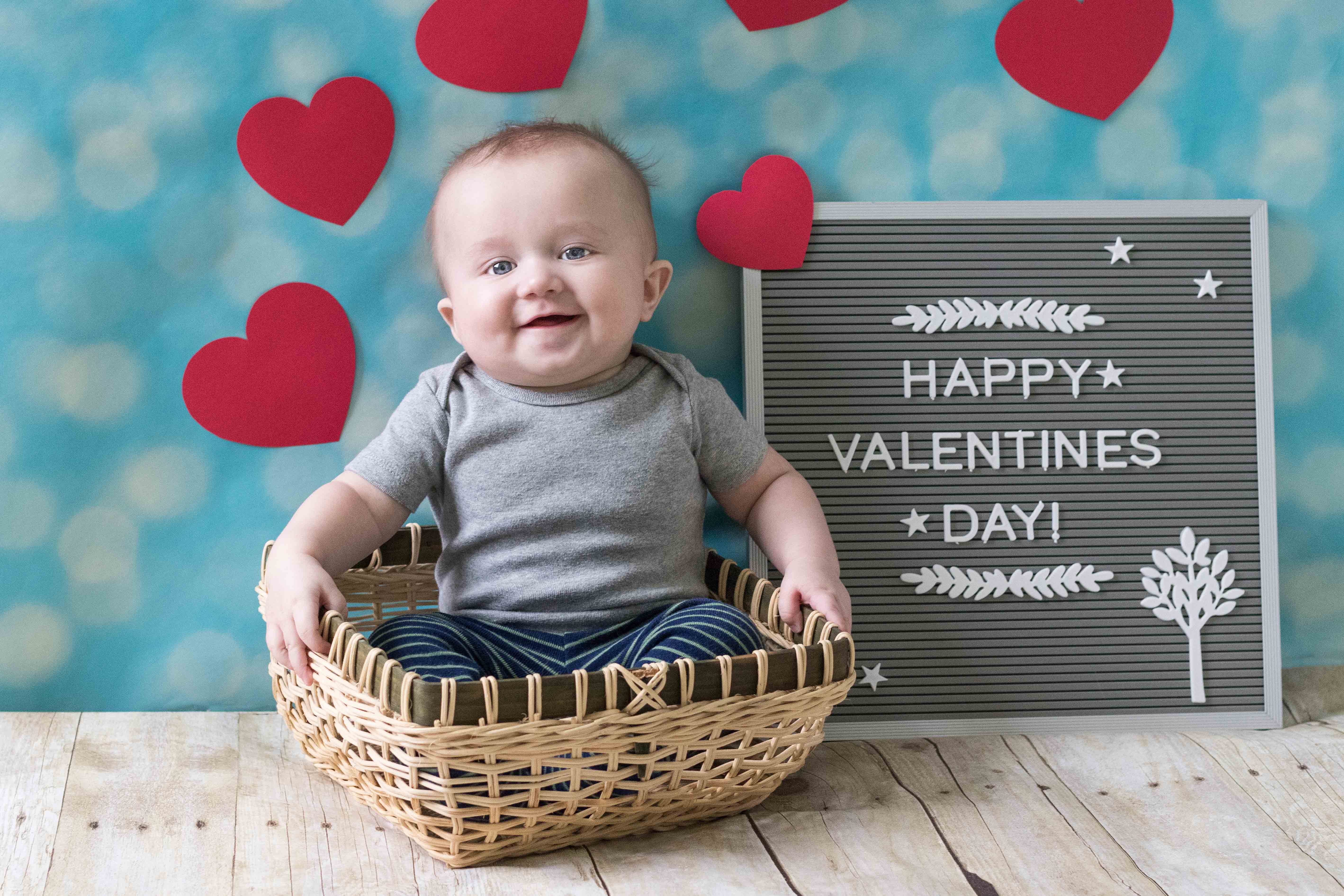 Valentine's Day Baby Photo Idea | https://www.roseclearfield.com