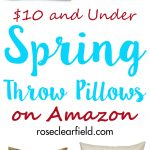 $10 and Under Spring Throw Pillows on Amazon | https://www.roseclearfield.com