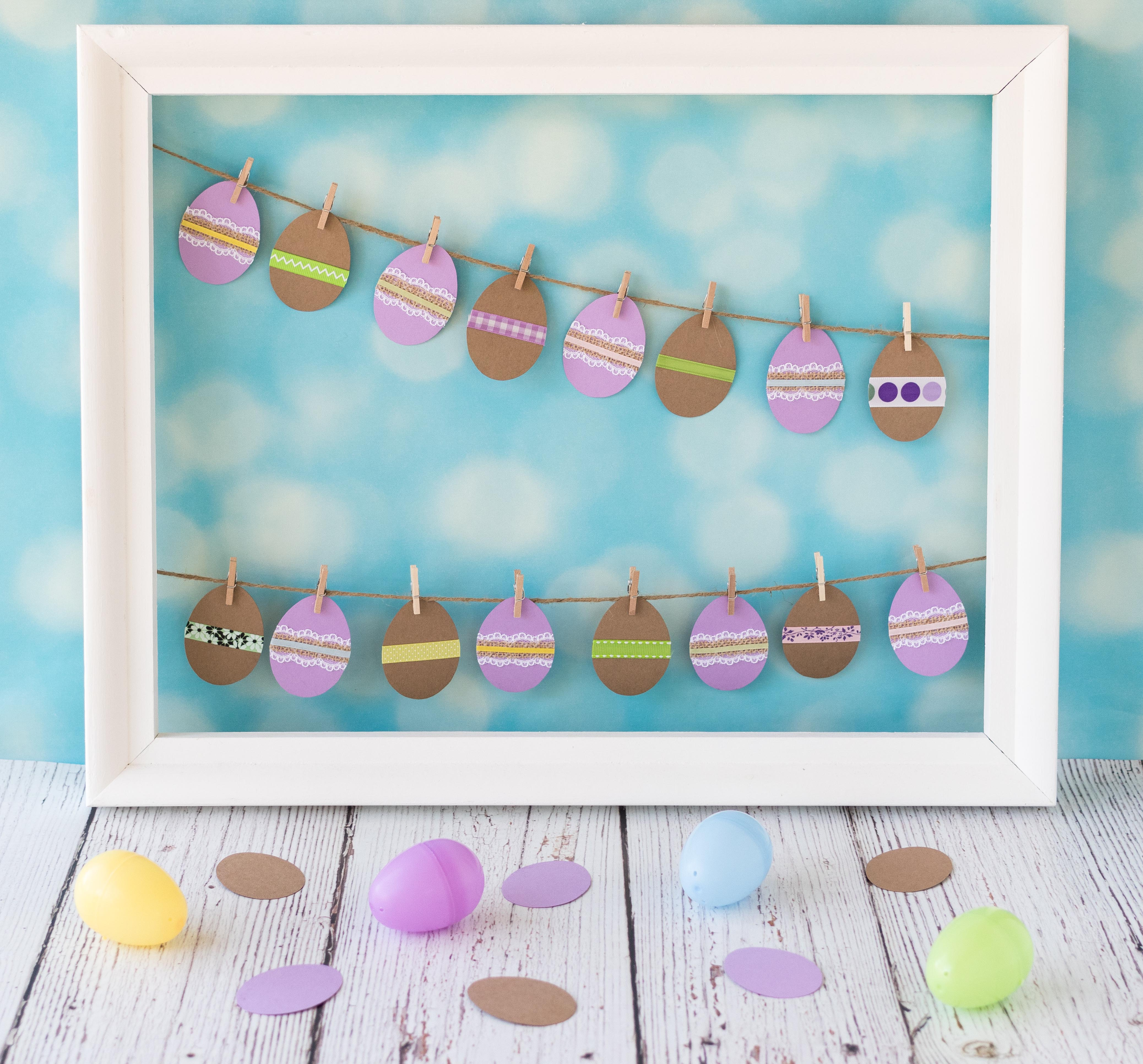 DIY Cardstock Easter Egg Decor | https://www.roseclearfield.com