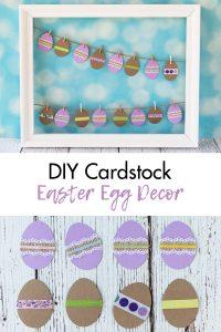 DIY Cardstock Easter Egg Decor