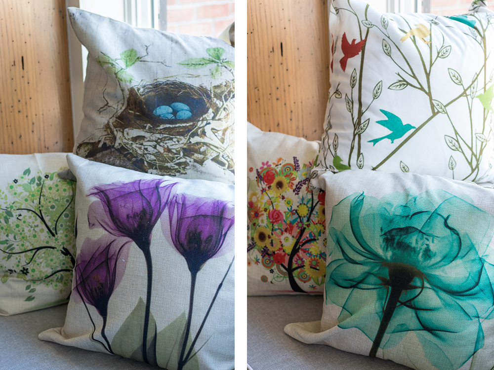 Spring Throw Pillows From Amazon | https://www.roseclearfield.com