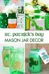St. Patrick's Day Mason Jar Decor