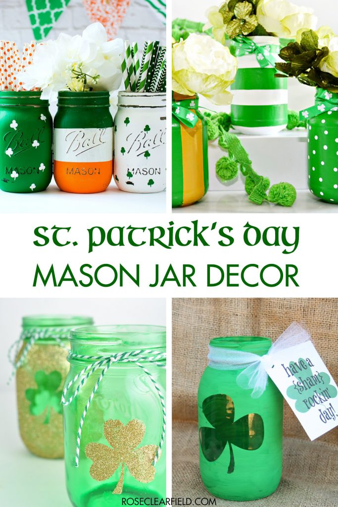 St. Patrick's Day Mason Jar Decor