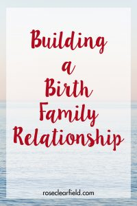 Building a Birth Family Relationship   https://www.roseclearfield.com