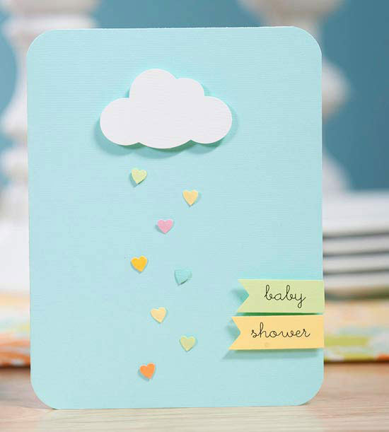 April Showers Bring May Flowers - Cloud Baby Shower Invitation via Better Homes and Gardens | https://www.roseclearfield.com