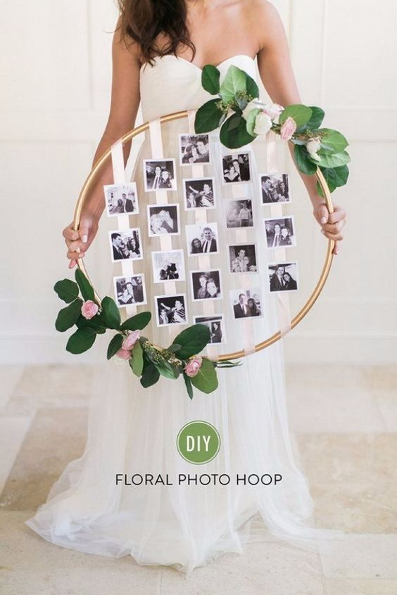 Unique Mother's Day Photo Gift Ideas - DIY Floral Photo Hoop via Style Me Pretty   https://www.roseclearfield.com
