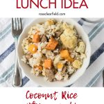 Quick Healthy Lunch Recipe: Coconut Rice with Vegetables and Sausage