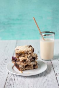 Blueberry Peach Cobbler Bars from The Pretty Dish