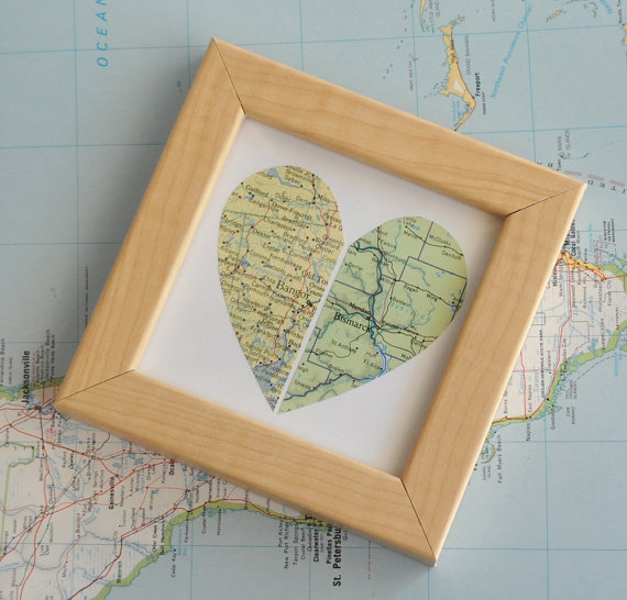 Mother's Day Gift Ideas for Birth Moms - Long Distance Relationship Map via Ekra on Etsy | https://www.roseclearfield.com