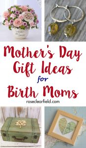 Mother's Day Gift Ideas for Birth Moms   https://www.roseclearfield.com