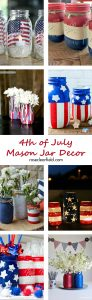 4th of July Mason Jar Decor | https://www.roseclearfield.com